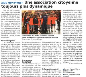 Article Journal l'Impartial du 5 mai 2016