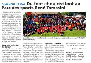 l'Article Journal l'Impartial du 12 mai 2015