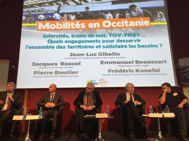 Intervention lors colloque régional sur le transport ferroviaire en Occitanie 13nov17