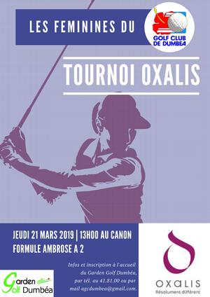 TOURNOI FEMININ OXALIS GOLF CLUB DUMBÉA 2019