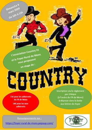 stage de country