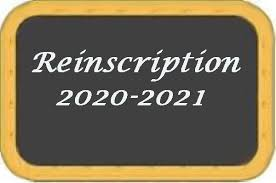 Réinscription Saison 2020 2021