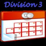 Calendrier Division 3 Dames