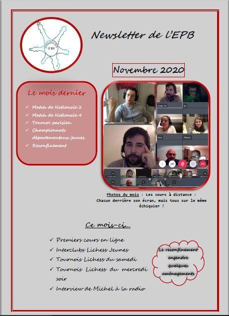 Newsletter de novembre 2020